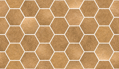 Bronze tiles. Seamless watercolour pattern. Decorative artistic background. Trendy creative design. Handmade texture.