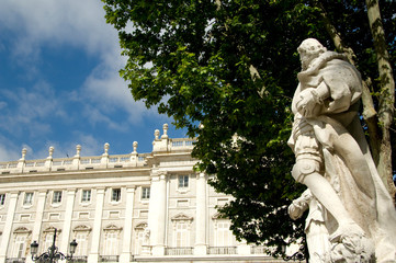 Photo Blinds Historic monument Spain, Madrid. Royal Palace.
