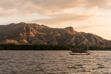 Sunset over Komodo archipelago