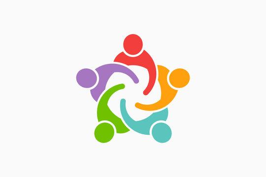 People Reunion Logo. Vector Illustration