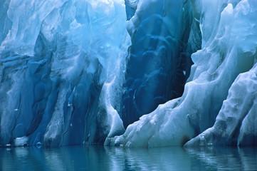 North America, USA, Alaska, Tracy Arm. Closeup of a blue iceberg.