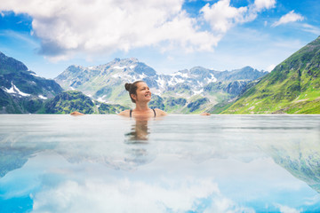 Photo Of Woman In Infinity Pool