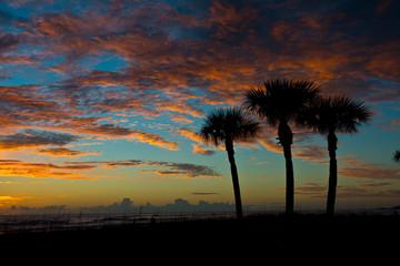 USA, Florida, Sarasota, Siesta Key, Seascape at Sunset