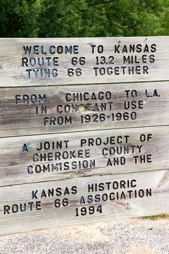 Galena, Kansas, USA. Route 66 sign.