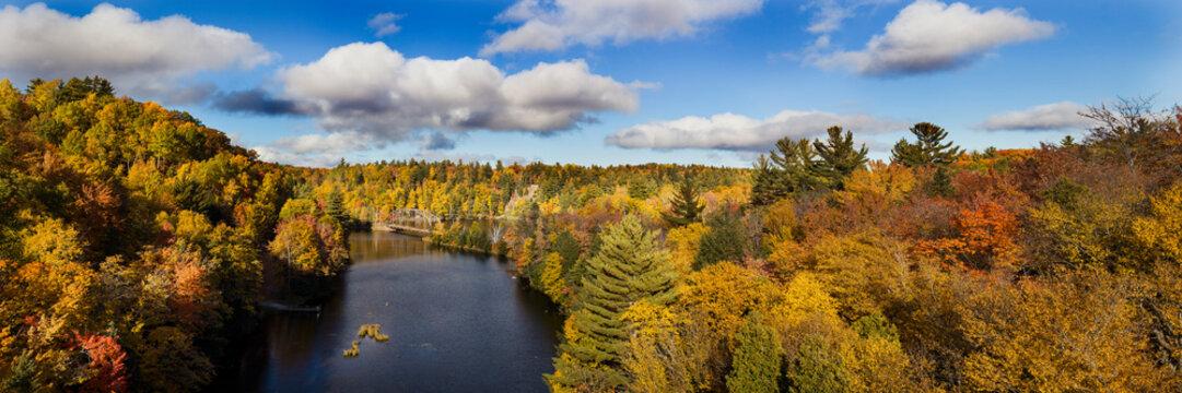 Fall Color Dead River Marquette county in the Upper Peninsula, Michigan