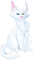 Poster Fairytale World Turkish Van Cat. Turkish Angora Cat