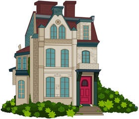 Poster Fairytale World Victorian House Facade