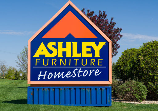 Ashley Furniture Homestore Store Exterior and Sign