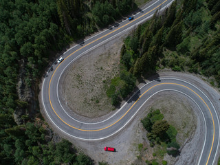 Switchback on a highway in Colorado