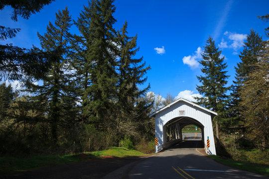 USA, Oregon, Hannah Bridge.