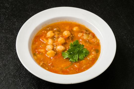 ひよこ豆のスープ モロッコ料理 Moroccan chickpea beans soup