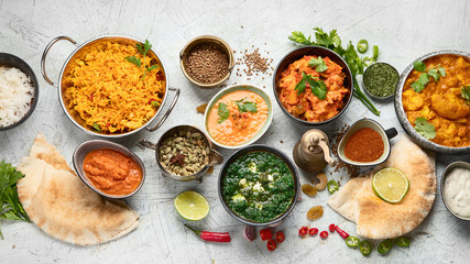 Fototapete - Traditional indian cuisine