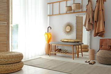 Cozy hallway interior with new stylish furniture Fototapete