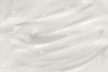 Sour cream texture. Yogurt, dairy product background