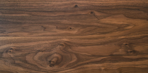 Acrylic Prints Wood Black walnut wood texture from two boards oil finished