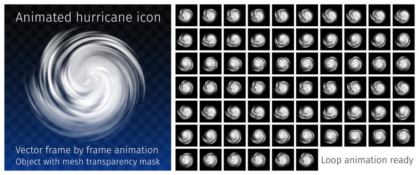 Animated Hurricane Icon with transparency