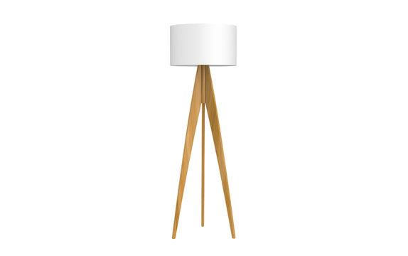 3d Illustration of  modern tripod floor lamp