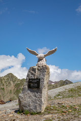 eagle at Timmelsjoch as symbol for friendship between Austria and Italy