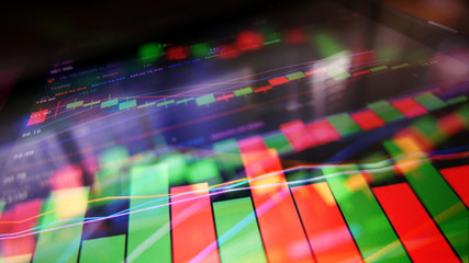 Stock Market Analytics Charts Business Concept