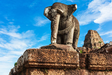 elephant sculpture at East Mebon temple