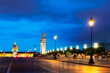 Printed kitchen splashbacks Delhi Bridge of Alexandre III, Paris, France
