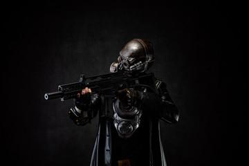 Post apocalyptic cyborg warrior