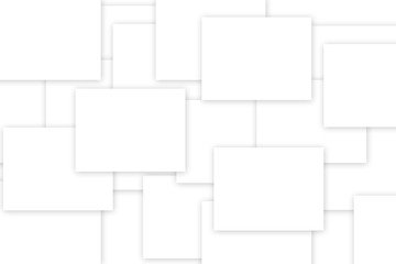 abstract white background with squares and copy space