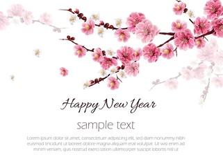 Chinese plum flower background