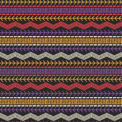 Foto op Plexiglas Boho Stijl Ethnic boho seamless pattern. Lace. Embroidery on fabric. Patchwork texture. Weaving. Traditional ornament. Tribal pattern. Folk motif. Can be used for wallpaper, textile, wrapping, web.