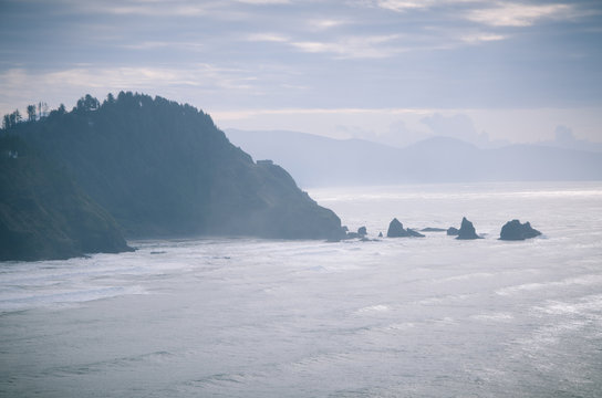 Oregon Coast in Blue Green