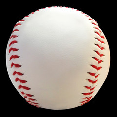 Baseball. Sport ball on a lblack background for cards, banners, flyers, print and web pages.