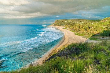 Landscape with Boucan Canot beach at Reunion Island, Africa