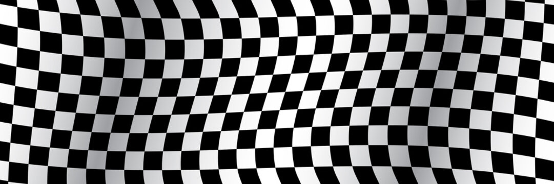 Banner, race flag background, checkered flag, car racing sport, checkerboard – stock vector