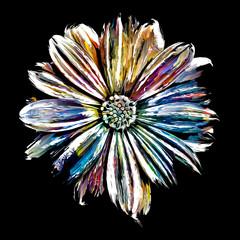 Flower Painting on black