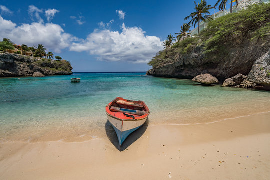 Lagun Beach on the caribbean island of Curacao