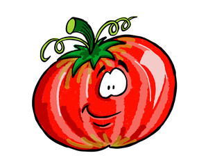 Cartoon vegetable friends tomato