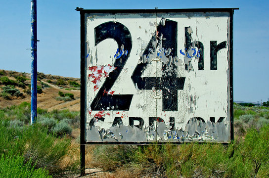 Old highway sign
