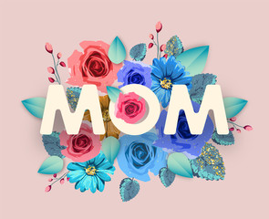 Mom banner. ..Happy mother's day! Vector illustration for a cover, poster or card for the holiday moms.