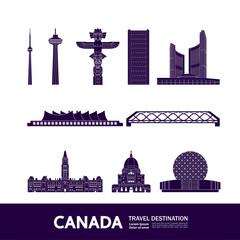 Wall Mural - Canada travel destination grand vector illustration.