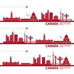Fotomurales - Canada travel destination grand vector illustration.