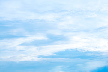Blue sky with natural white clouds landscape.- Image