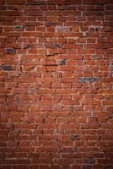 Old Dirty Red Brick Wall Background