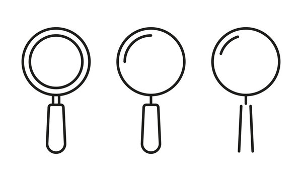 Magnify line icon. Search and find symbol. Magnifier or Magnifying glass logo. Vector illustration.