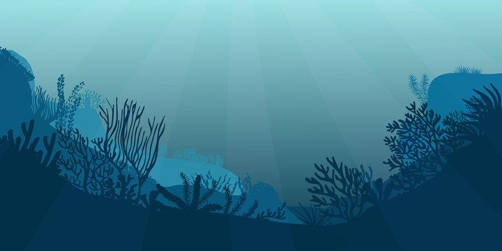 Underwater seascape scene