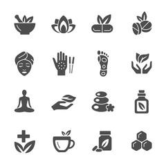 Alternative medicine vector icons