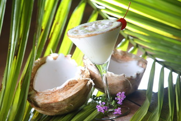 The Pina Colada is a sweet cocktail made with rum, coconut cream or coconut milk, and pineapple...