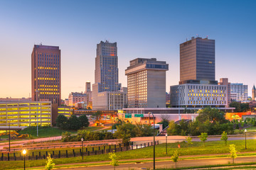 Fotomurales - Akron, Ohio, USA Town Skyline