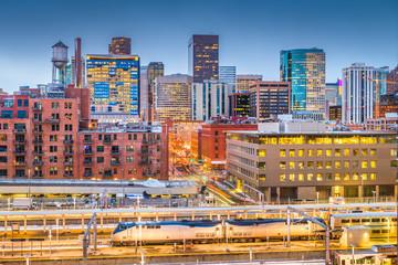 Fototapete - Denver, Colorado, USA Cityscape