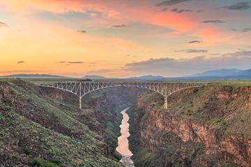 Fototapete - Rio Grande Gorge Bridge