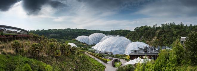 Fototapeta Eden project domes in St Austill Cornwall United Kindom